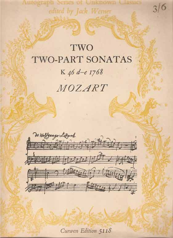 Image for Two two-part Sonatas. K. 46d-e. For piano solo ... Edited by Jack Werner