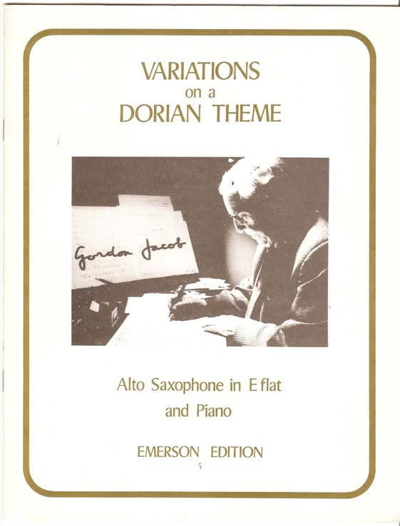 Image for Variations on a Dorian Theme - Alto Saxophone in Eflat and Piano