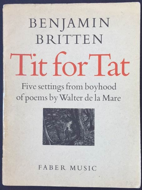 Image for Tit for Tat; Five Settings from Boyhood of Poems by Walter De La Mare