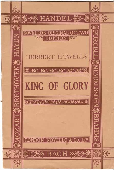 Image for King of Glory. (From Three Motets for Chorus and Organ)