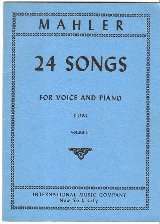 Image for 24 Songs for Voice and Piano - Low Voice. Volume III
