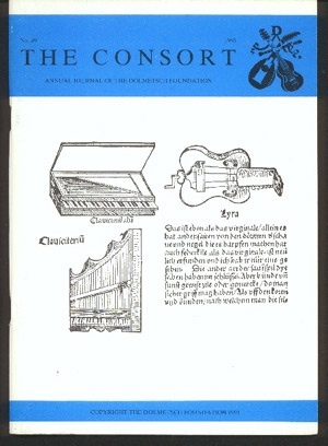 Image for The Consort: the Journal of the Dolmetsch Foundation Number 49 1993