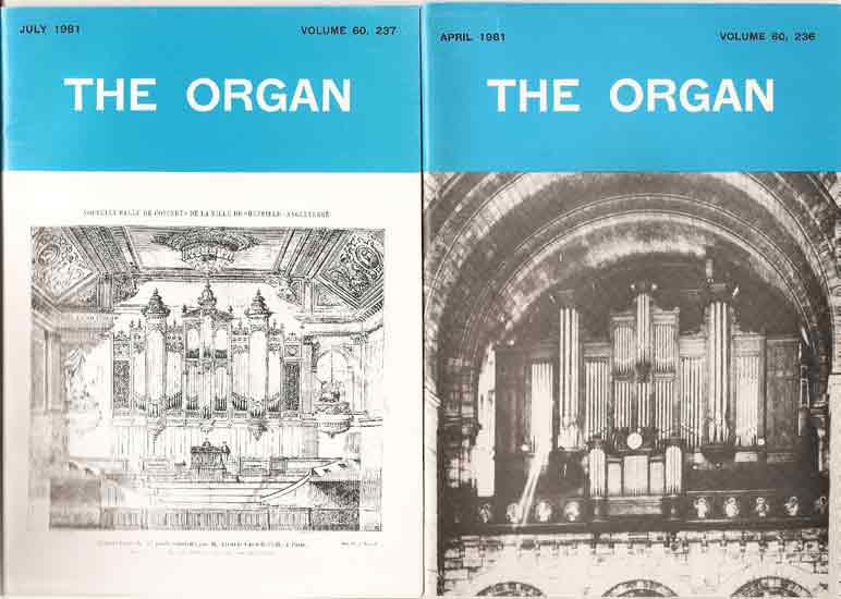 Image for The Organ: A Quarterly Review Volume 60