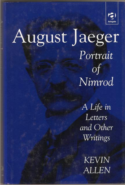 Image for August Jaeger - Portrait of Nimrod: a Life in Letters and Other Writings