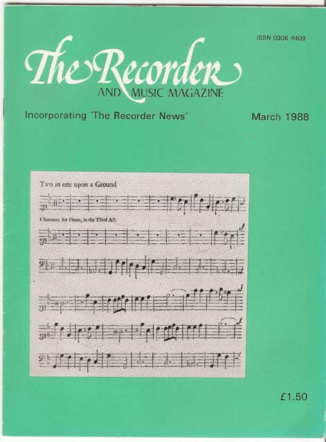 Image for The Recorder Magazine Volume 9