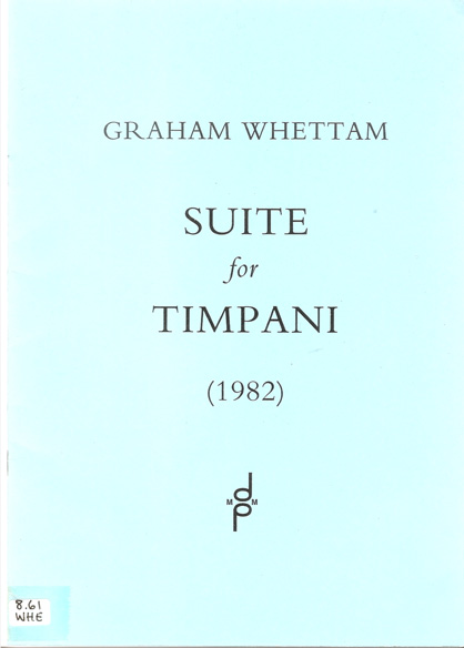 Image for Suite for Timpani (1982)  Five Pieces for Four Drums