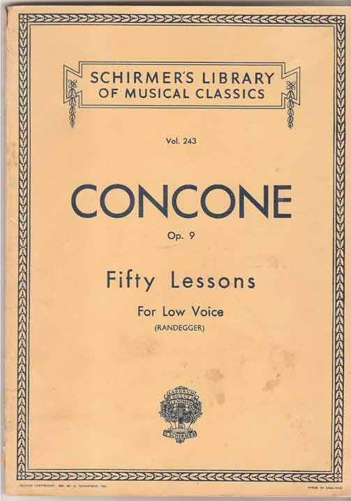 Image for Fifty Lessons Op.9 - for Low Voice