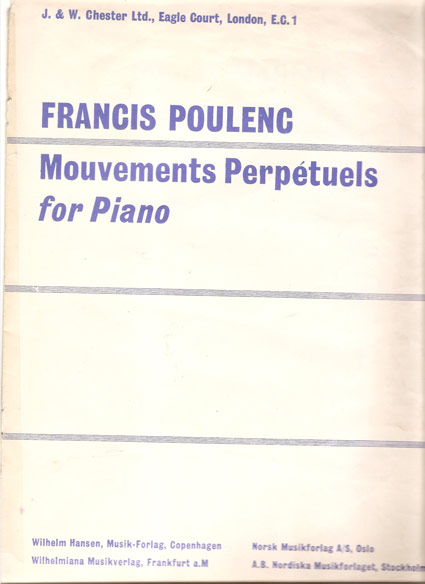 Image for Mouvements Perpétuels for Piano