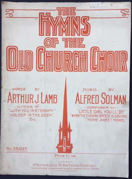 Image for The Hymns of the Old Church Choir. Words by Arthur J. Lamb