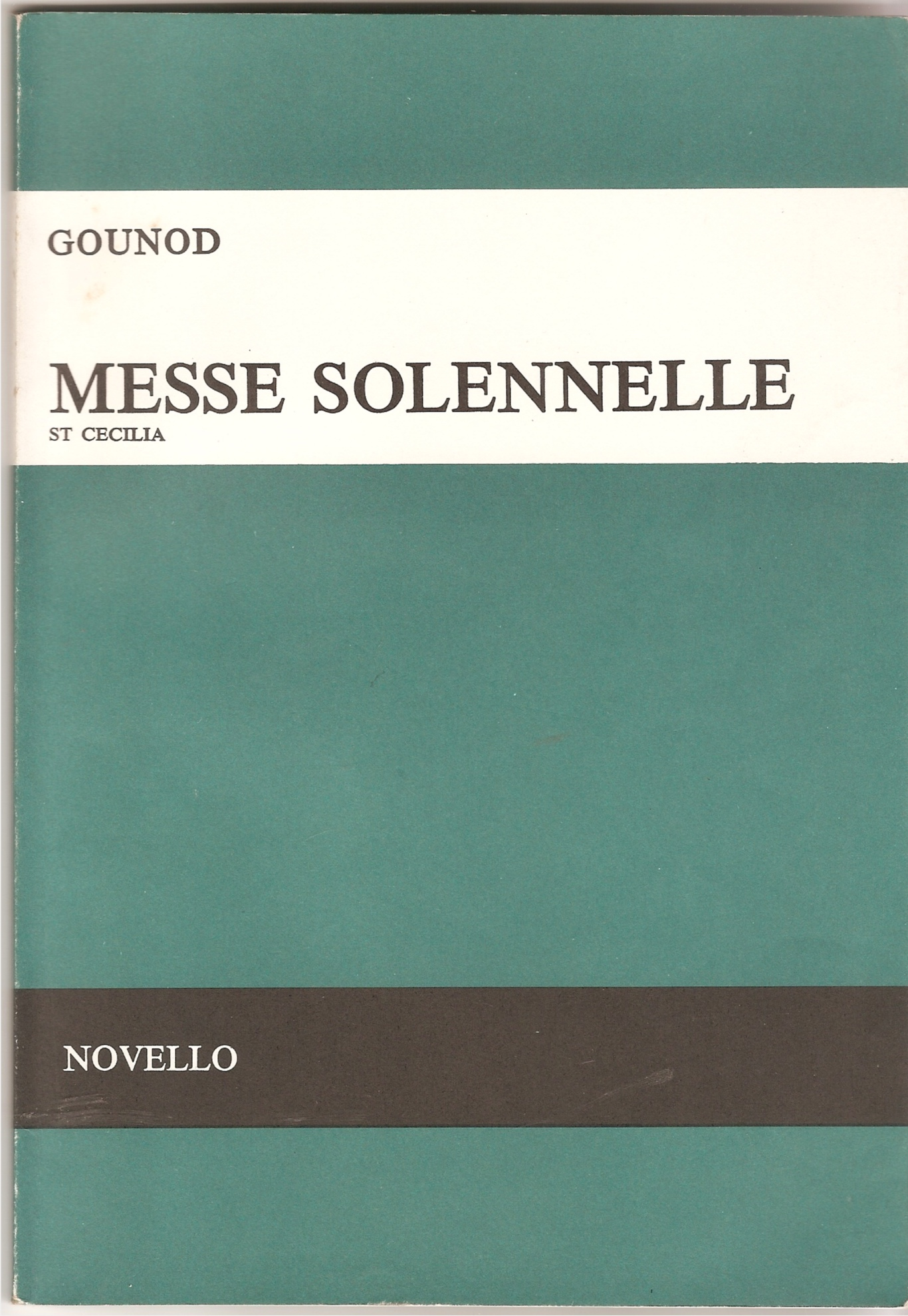Image for Messe Solennelle. St Cecilia. for Soprano, Tenor & Bass Soli, SSTTBB & Orchestra