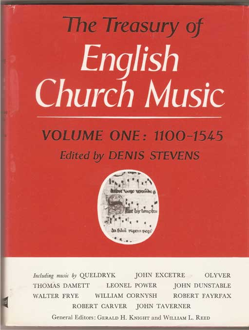 Image for The Treasury of English Church Music 1100-1545 - Volume 1