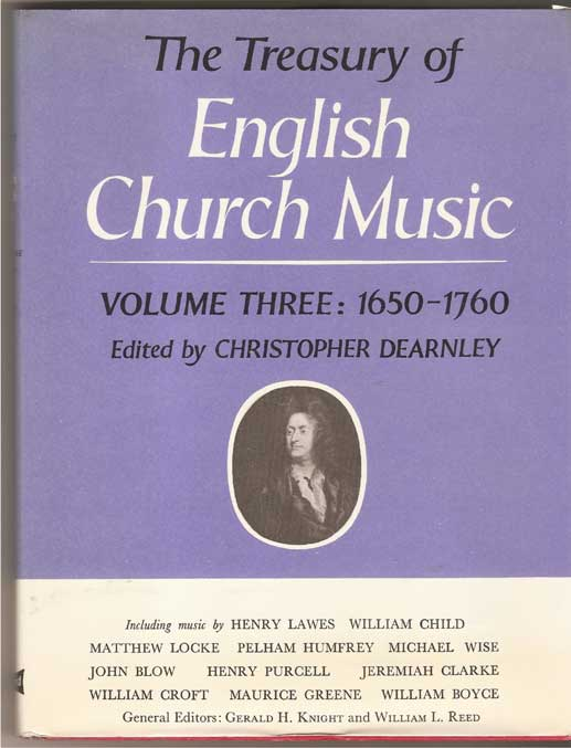 Image for The Treasury of English Church Music 1650-1760 Volume Three