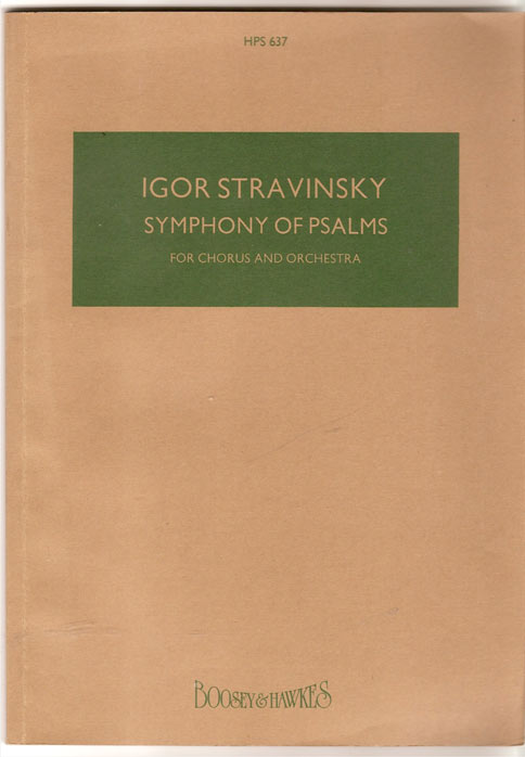 Image for Symphony of Psalms for Chorus and Orchestra