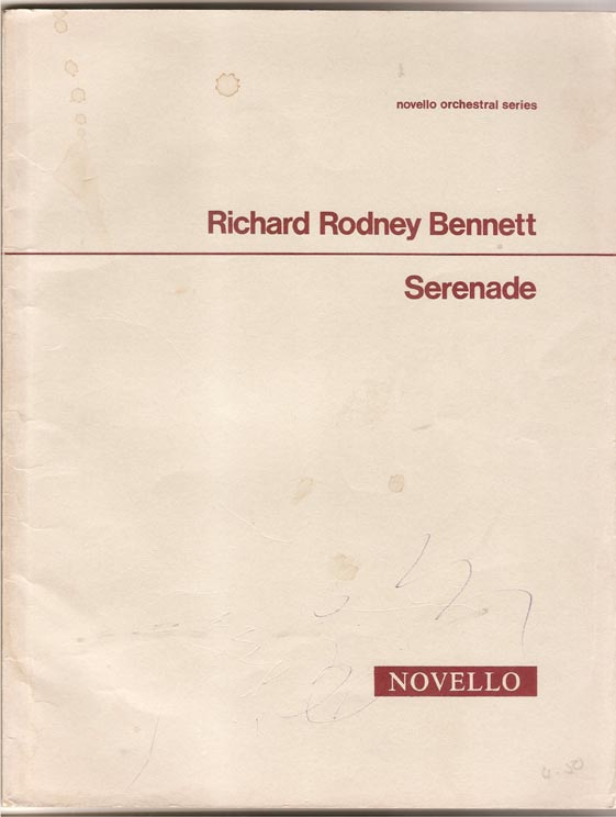 Image for Serenade - for Small Orchestra - 1. Aubade. 2. Siesta. 3. Nocturne.