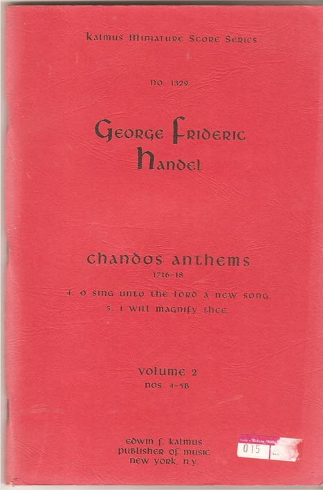 Image for Chandos Anthems Volume 2 Nos 4 - 5B