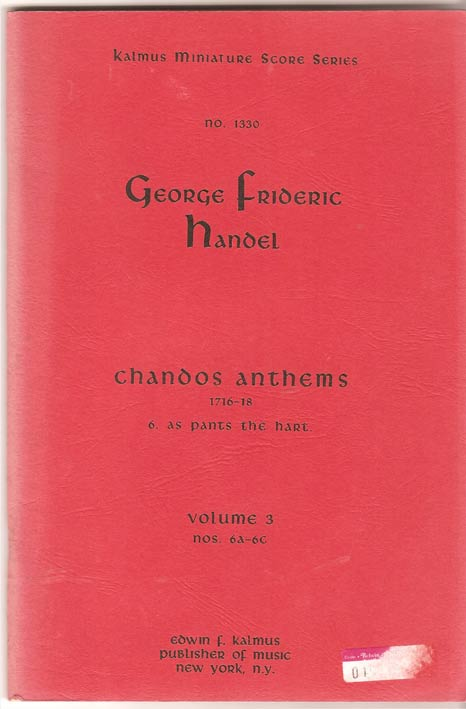 Image for Chandos Anthems Volume 3 Nos 6A - 6C