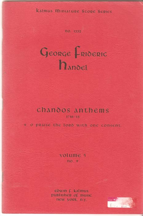 Image for Chandos Anthems. Volume 5, No 9