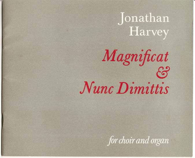 Image for Magnificat and Nunc Dimittis. for Choir and Organ