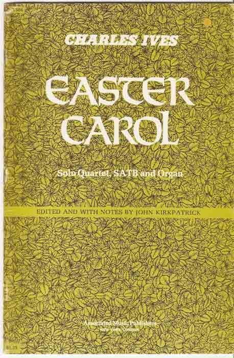 Image for Easter Carol. Solo Quartet, SATB and Organ.