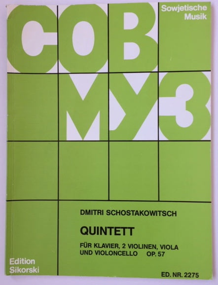 Image for Quintett Op 57 - Arranged for Two Violins - Viola - Cello - Piano