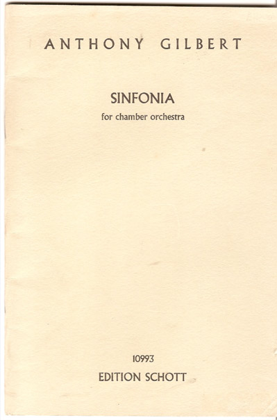 Image for Sinfonia for Chamber Orchestra Op. 5