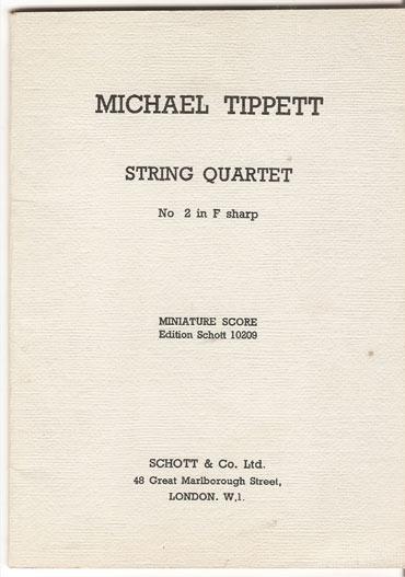 Image for String Quartet No. 2 in F Sharp.