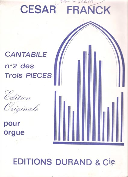 Image for Cantabile. No 2 des Trois Pieces pour Orgue
