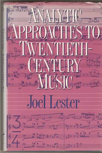 Image for Analytic Approaches to Twentieth-Century Music