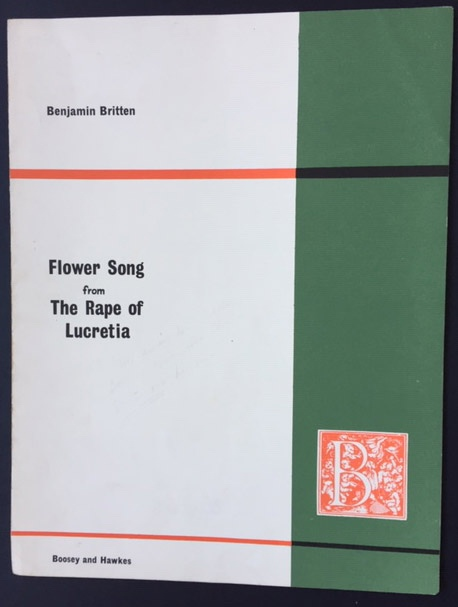 Image for Flower Song from the Rape of Lucretia. Op. 37. (for Contralto and Piano)