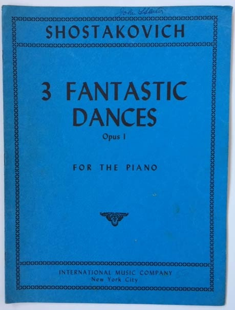 Image for Three Fantastic Dances for the Piano. Op 1