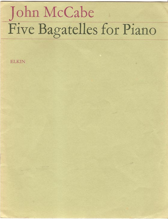 Image for Five Bagatelles for Piano