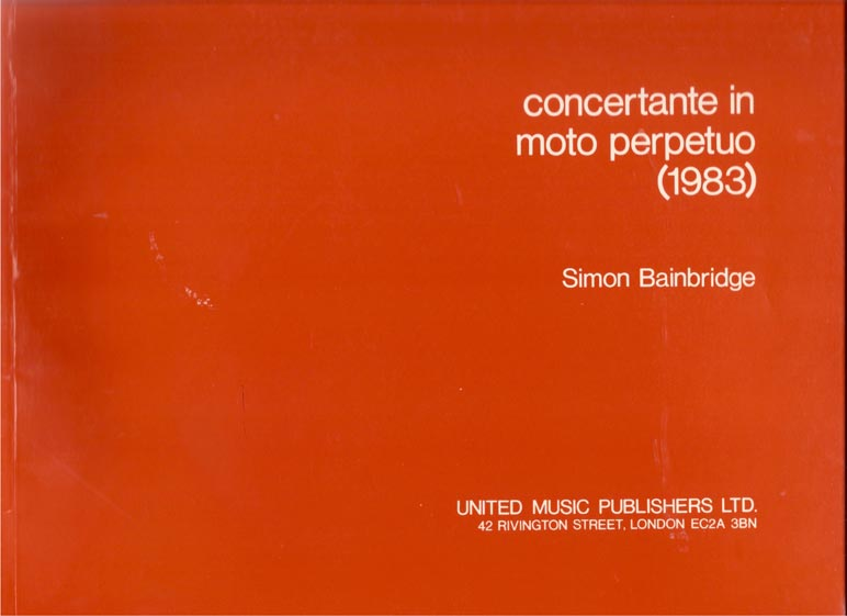 Image for Concertante in Moto Perpetuo