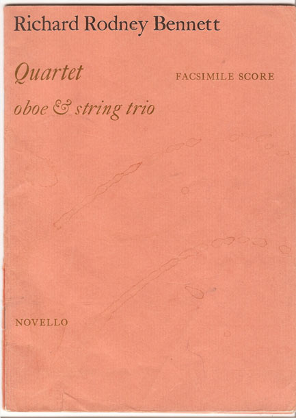 Image for Quartet for Oboe and Strings