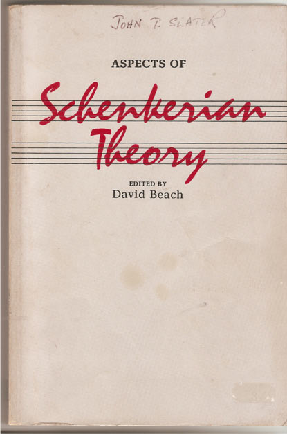 Image for Aspects of Schenkerian Theory