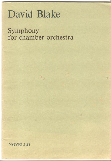 Image for Symphony for Chamber Orchestra