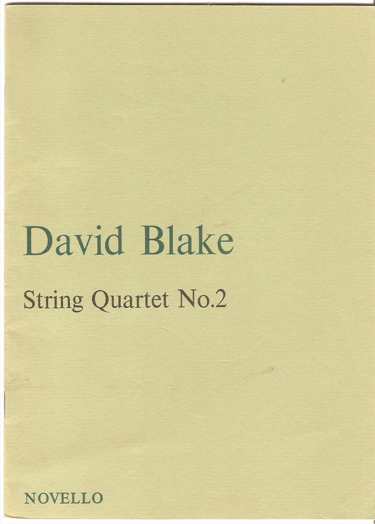 Image for String Quartet No.2