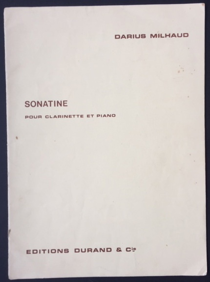 Image for Sonatine Pour Clarinette et Piano.