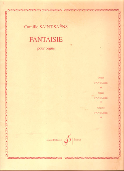 Image for Fantaisia Pour Orgue