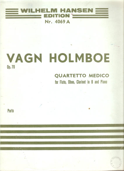 Image for Quartetto Medico, Op.70 for Flute, Oboe, Clarinet and Piano