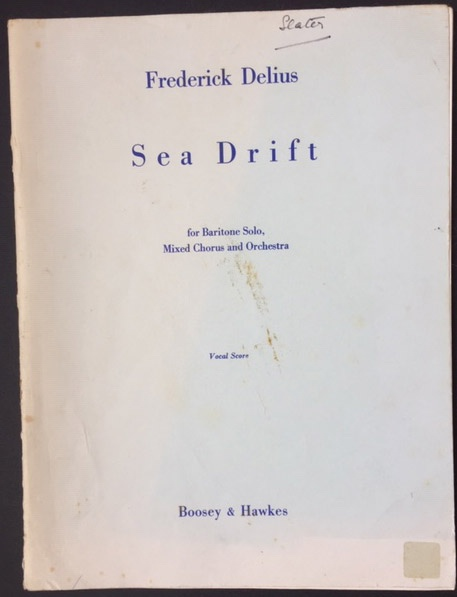 Image for Sea Drift - for Baritone Solo, Mixed Chorus and Orchestra.