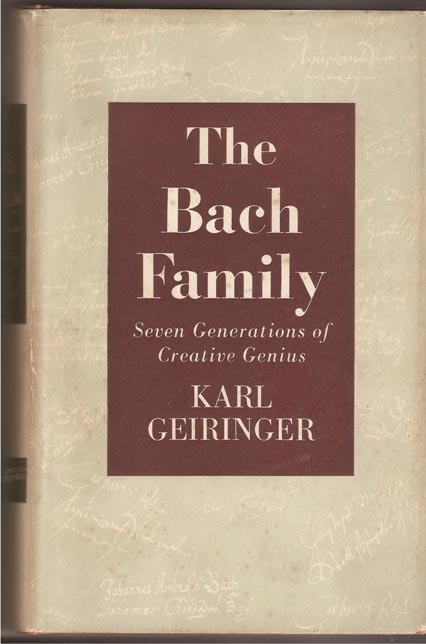 Image for Bach Family - Seven Generations of Creative Genius