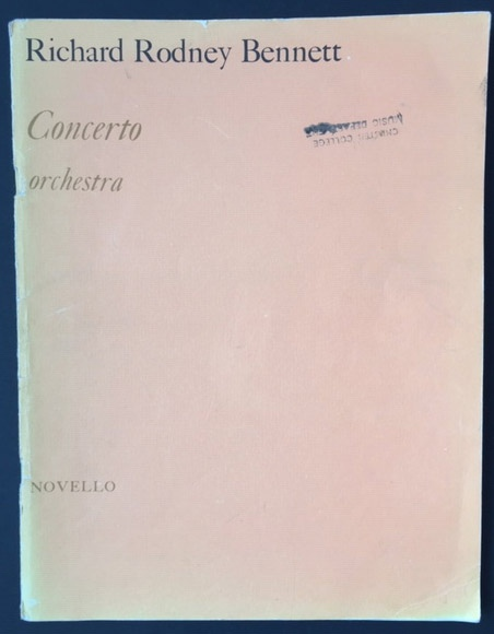 Image for Concerto. Orchestra. - Based on the Tema Seriale from Benjamin Britten's Cantata Academica