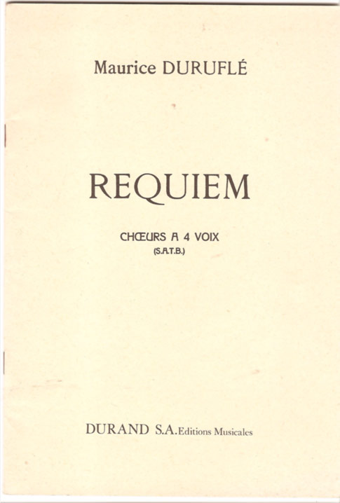 Image for Requiem - Choers a 4 Voix (SATB)