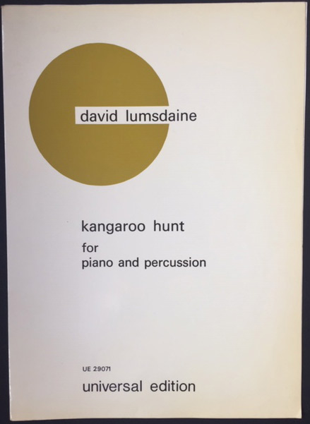 Image for Kangaroo Hunt for Piano and Percussion