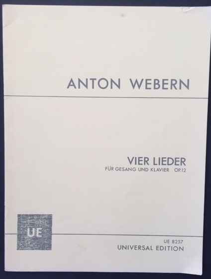 Image for Vier Lieder Fr Gesang Und Klavier. Op 12 - Four Songs for Voice & Paino
