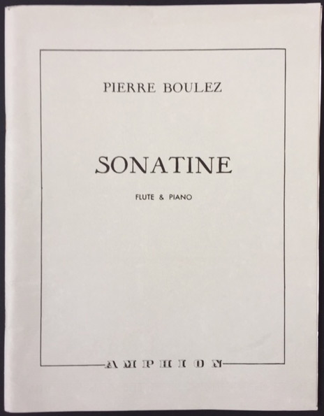 Image for Sonatine for Flute and Piano.