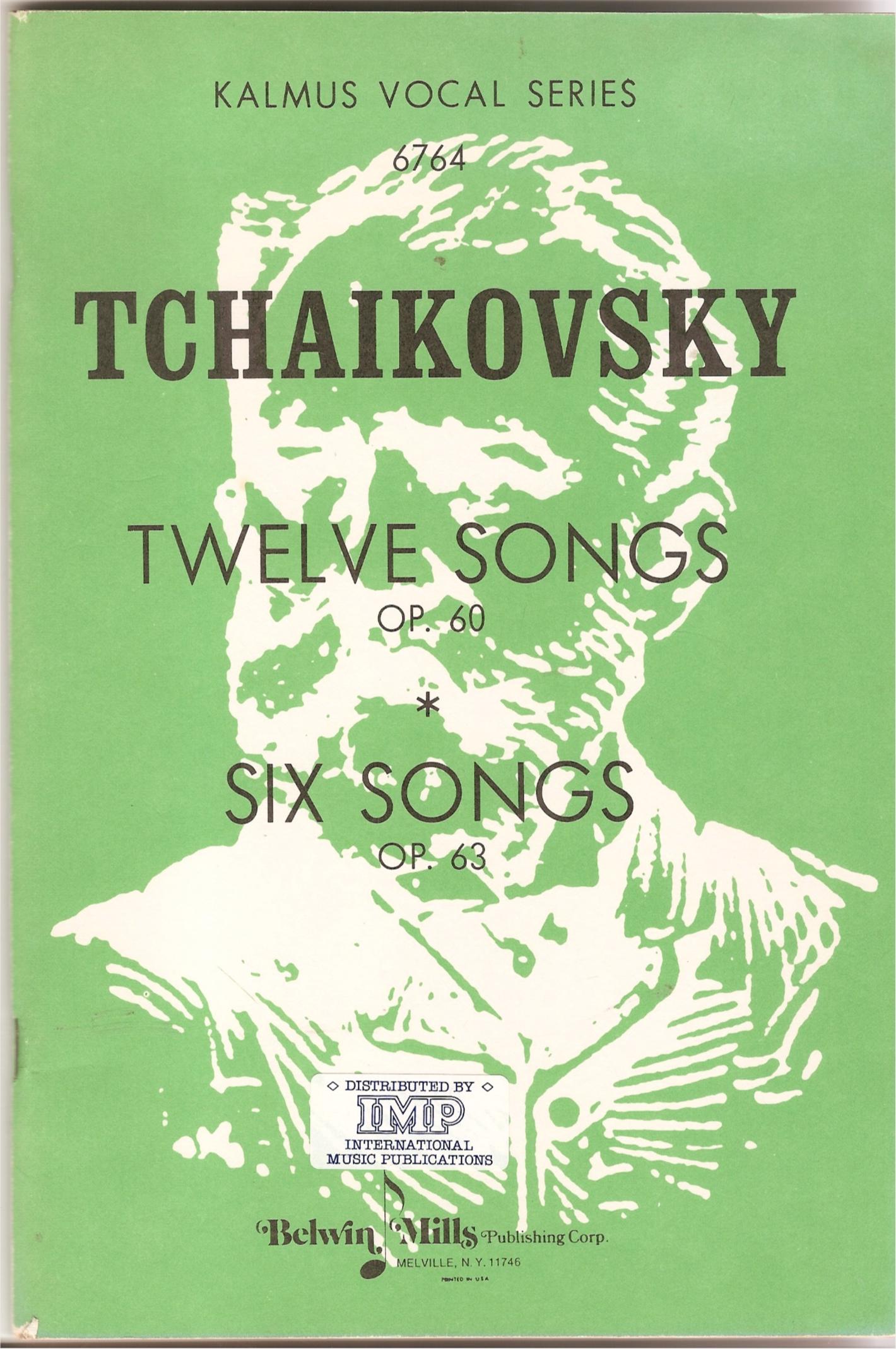 Image for Twelve Songs Op 60. Six Songs Op 63