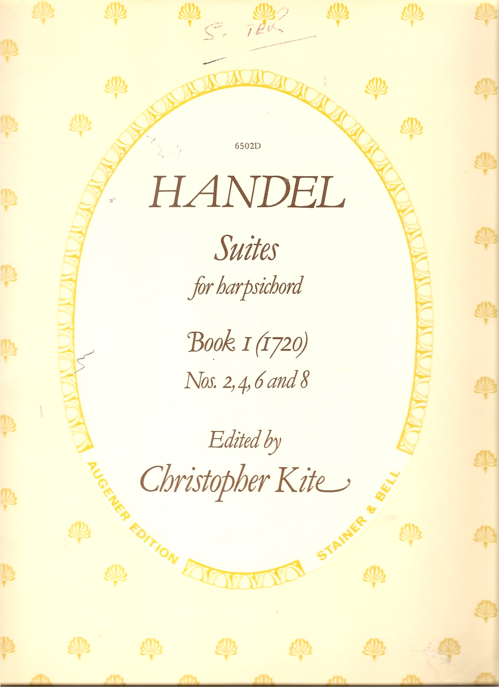 Image for Suites for Harpsichord. Book 1 (1720) Nos 2, 4, 6 and 8