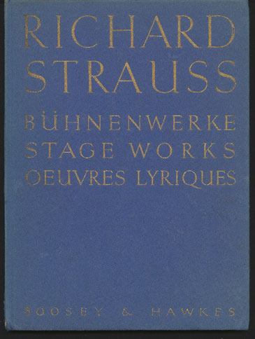 Image for Richard Strauss Stage Works