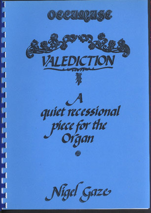Image for A Collection of Three Pieces: - Valediction / Aubade / a Voluntary in the Style of John Stanley